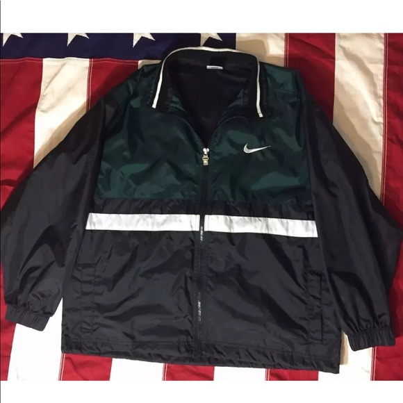 Vintage Nike Swoosh Windbreaker Jacket Large 14 16